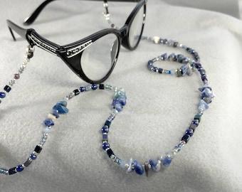 Beaded Eyeglasses Chain - Stormy Blue