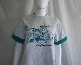 Closing shop SALE 40% off 80s  Chinatown SF San Francisco California   t shirt