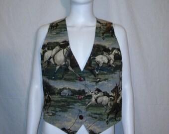 Closing Shop 40%off SALE Polo Equestrian horse riding vest, 80s 90s Vintage Vest