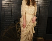 Reserve today only Edwardian Victorian Lawn Dress Prairie Style As-Found