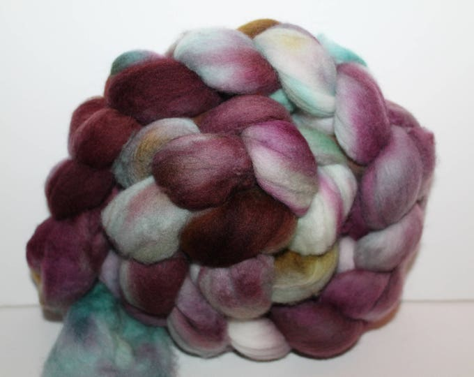 Kettle Dyed Merino Wool Top. Super fine. 19 micron  Soft and easy to spin. 4oz  Braid. Spin. Felt. Roving. M240