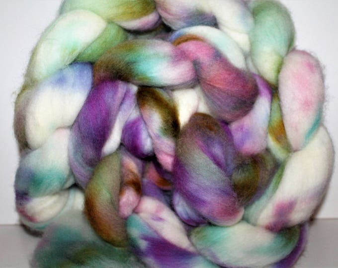 Kettle Dyed Cheviot Wool Top.  Easy to spin.  Great for felting. 1lb. Braid. Spin. Felt. Roving. C24