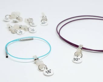 Size ID Bands for Interchangeable Cables (Set of 2, 3, 4 or 5)