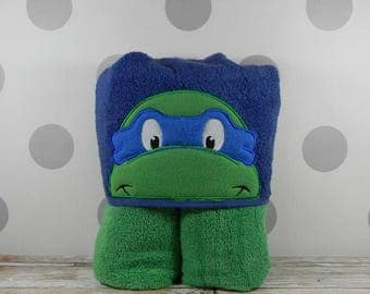 Kid's Hooded Towel - Ninja Turtle Hooded Towel - Character inspired Ninja Turtle Towel for Bath, Beach, or Swimming Pool