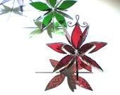 Vous choisissez n'importe quelle couleur et taille - vitrail 3D Flower Burst - suspension Suncatcher ornement de maison et jardin décor abstrait (FAIT à la COMMANDE)