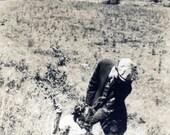 vintage photo 1912 Murder on the Mountain Top Woman Shoots Gun Man Grabbing her