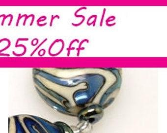 Blue button beads, Lampwork bead, Glass beads , lampwork glass beads,lampwork, glass, lampwork bead,handemade beads,beads,handmade lampwork