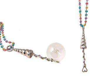 Unicorn Necklace Bubble Blower     wand rainbow silver gold jewelry