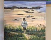 Beach babe 20x16 custom painting for annika