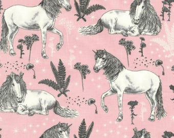 Timeless Treasures Pink Unicorn BTY