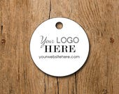 """180 tags - 1.5"""" - Customized Small Price Tags Circle Jewelry Hang Tags Labels"""