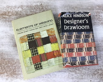 Vintage Weaving Books - Alice Hindson Designer's Drawloom and Elements of Weaving