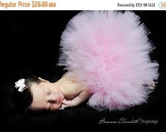 SUMMER SALE 20% OFF Pink Baby Tutu - Ready To Ship - Sewn Light Pink Infant Tutu - sizes newborn up to 12 months - Baby Photo Prop
