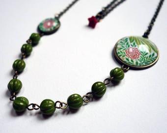 Necklace, Peony pink SD03B