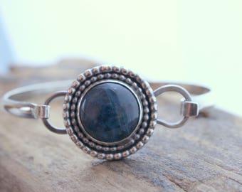 Apatite Sterling Silver Bangle Bracelet