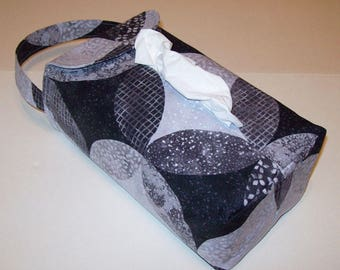 NEW!  Automobile Hanging Tissue Box Cover / Tissue Box Cozy / Automobile Accessory For Your Car / Ambiance / Gray