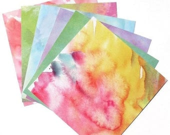 50% OFF - Watercolor - 6x6 Momenta Paper Pack
