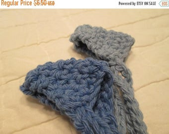 25% OFF STORE SALE Crocheted Nose Warmers Set of 2 Country Blue and Blueberry