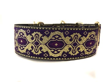 Wide 2 inch Adjustable Buckle or Martingale Dog Collar in the Royals