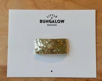 Gold Chunky Glitter Snap Hair Clips // Glitter Snap Clip // Glitter Hair Clip // Barrette //