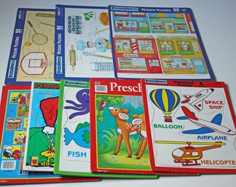 Lot of 8 vintage kids puzzles for ages 1-7