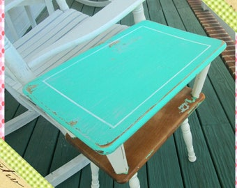 Table, Shabby Chic Side Table, Farmhouse End Table, Shabby Chic Nightstand, Handpainted Home Decor, Refurbished, Upcycled Furniture