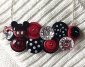 Button Necklace - Mickey ...