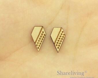 6pcs Wooden Geometric Charm / Pendant, DIY Laser Cut Mini Blank Wood Charm, Perfect for Earring  - HWD512H