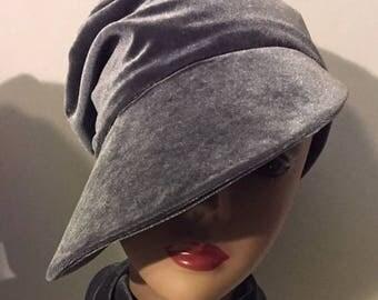Silvery Gray HerHat Velvet Beak Cap