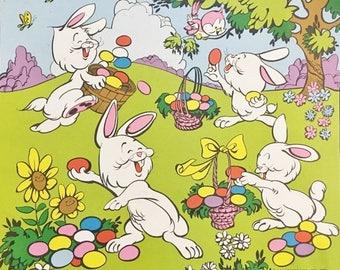 1982 Vintage Cardstock Easter Bunny Display Card for Lucky Egg Vending Machine  Vintage Vending Machine Display Card for Lucky Egg