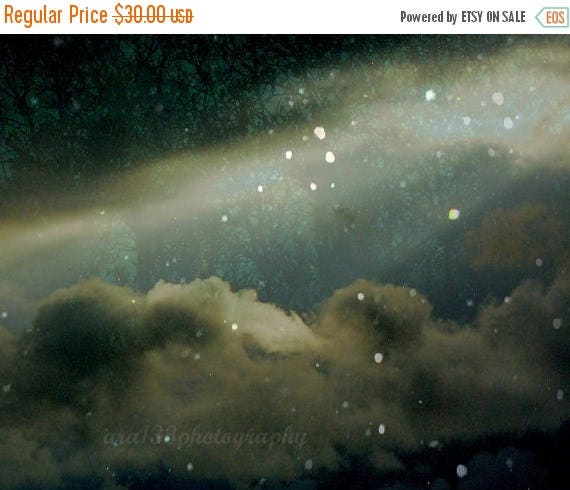50% OFF SALE Night Sky Photograph, Wall Decor, Celestial, Fairytale, Landscape Picture, Nature Photo - 8x10 inch Print - At Tara In This Fat