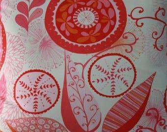 Ingrid in Manadarin ~ WRENLY collection by Valori Wells for Free Spirit vw32-mandarin Orange Pink Red Large Floral ~ By the half yard