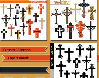 35% OFF SALE Crosses collection clipart commercial use, digital images, clip art graphic bundle MGB123