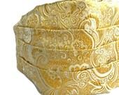 Gold Brocade Cummerbund , Tuxedo Accessories , Formal Wear , Gifts for Him, Cumberband , Mens Wedding Attire
