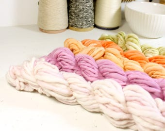 juicy  ... handspun yarn set, weaving creative yarn bundle, hand spun, hand dyed yarn, handspun art yarn