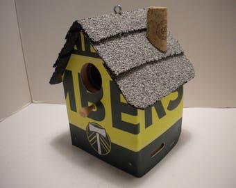 Portland Timber License Plate Birdhouse