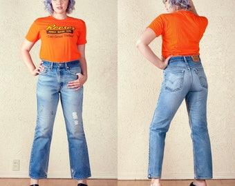 Distressed vintage Levi 517 bootcut jeans 32 x 30
