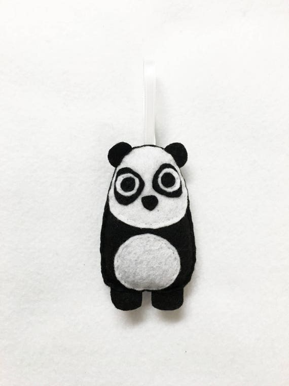 Panda Ornament, Christmas Ornament, Felt Animal, Eugene the Panda, Christmas Decoration, Felt Ornament, Kids Gift