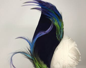 Feathered Velvet Swoop Fascinator