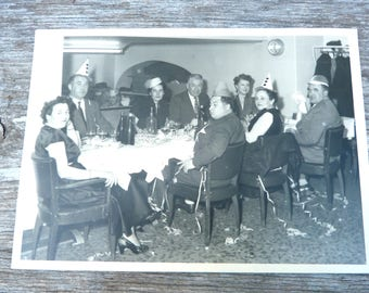 Vintage Antique 1955 French real photography black & white  St Sylvestre