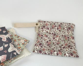Small Leak Proof Organic Cotton Wet Bag in Blossom