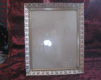 Vintage Decorative Metal Picture Frame Gold Cut Metal Picture Frame with Glass