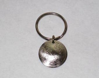 Antique Victory nickel key ring