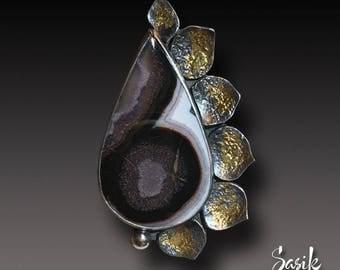 Agua Nueva Agate Ring  Agate  Cabochon Keum Boo ring