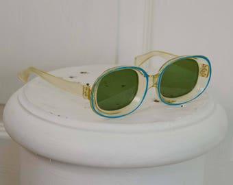 Rare 1940's 1950's Woman's Celluloid Sunglasses