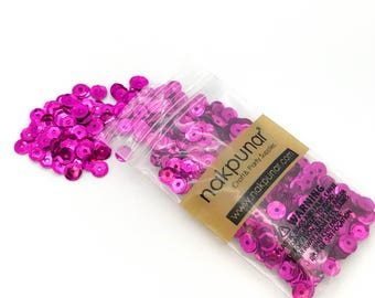 3D Fuscia Round Sequin For Clothing, Accessory, DIY, Craft Scrap-booking, Wedding, Art Decoration, Jewelry Making