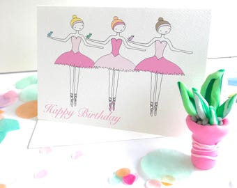 Ballerina Birthday Card - Free Postage