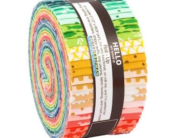 "Robert Kaufman REEF Roll Up 2.5"" Precut Fabric Quilting Strips Jelly Roll Elizabeth Hartman RU-682-40"