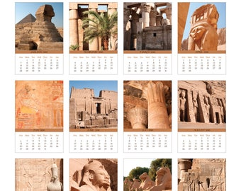 2018 Photo Calendar with Folder and Stand - Egyptian Pyramids