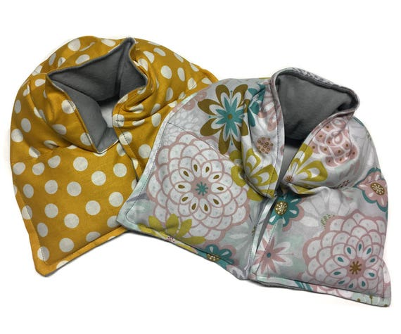 Rice bag heat wrap, set of TWO,  microwave heating pad, rice bag, heating pad, spa neck wrap, flax seed,aromatherapy